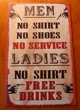 MEN & LADIES DRINK Country Western Bar Old West Pub Rustic Saloon Decor Sign