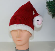 PRINTED INSTRUCTIONS - CHILDRENS SANTA HEAD CHRISTMAS HAT KNITTING PATTERN