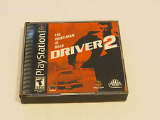 Driver 2 (Sony PlayStation 1, 2000) PS1 The Wheelman is Back T Teen 2 discs*^