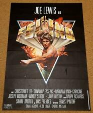 JAGUAR LIVES Orig KUNG FU MARTIAL ARTS Movie Poster CHRISTOPHER LEE BARBARA BACH