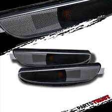 Chrysler 300M 99-04 Crystal Bumper Parking Lights Black BLK Lamps Pair New 00 01