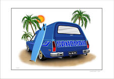 HOLDEN HX HZ SANDMAN PANELVAN SURF SHAGGIN' WAGON   LIMITED EDITION CAR PRINT