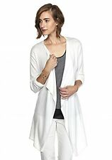Michael Kors Open Front Draped open front Long Sleeve Cardigan White L