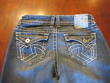 Hydraulic Lola junior 7/8 W 28-30 X L 31 blue denim jeans Bling Thick flap women