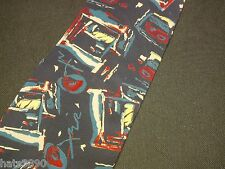 Miles Davis Trumpet Logo Tie 100% Silk Abstract Design pre owned great condition