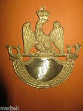 Cuivrerie:Plaque shako 1812 Troupe Chasseur,1er Empire.Napoléon,choix du chiffr