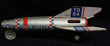 Thor Delta Rocket, Tin Lithograph Toy. Made ​​in Japan by DAIYA. Working Motor
