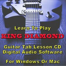 KING DIAMOND Guitar Tab Lesson CD Software - 78 Songs