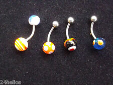 Lot de 4 PIERCING pour NOMBRIL
