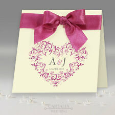 50 PERSONALIZED Luxury Handmade Wedding Invitations Free Envelopes and P&P