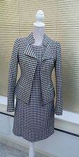 NEXT DOGTOOTH PRINT SUIT OUTFIT 8 /10 DRESS & JACKET SMART OCCASION WEAR