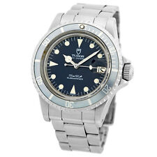 TUDOR Vintage 40mm Stainless Steel Submariner Date 76100 Acrylic Blue Warranty