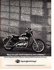 1989 Harley-Davidson 883 Sportster Vintage Ad Have You Got What it Takes...