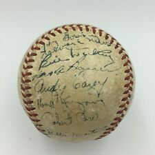 1950 NY Yankees World Series Champs Team Signed American League Baseball