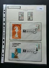 Mexico Chess 1978 Horse Indoor Games Competition (FDC pair) + (stamp) USED