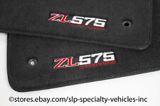 Set of Front SLP Camaro ZL575 Supercharged Embroided Floor Mats Black 2010-2013