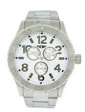 I by Invicta IBI41704-001 Men's Round Analog White Day Date Silver Tone Watch