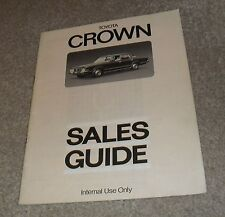 Toyota Crown Internal Sales Guide - Very Rare 1976