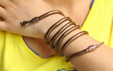 Flexible Bendy Snake head Necklace Twisty Bracelet Wristband Armlet Black