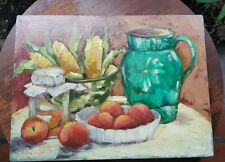 Orig Signed Marilyn Poliquin Still LIfe Acrylic on Canvas 12in X 16in Unframed