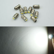 10x 6V Ba7s LLB282 1 LED DASHBOARD WARNING SWITCH BULB White Positive Earth