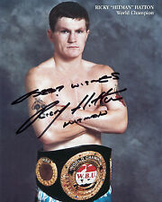 Ricky 'Hitman' Hatton - Former Welterweight Champion - Signed Autograph REPRINT