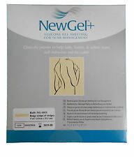 "NewGel+ Silicone Gel Sheeting 1"" x 6"" Silicone Strips For Scars Beige (4 Strips)"