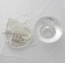 Professional 103 Model Silver Plated Double French Horn F/Bb Tone With Case