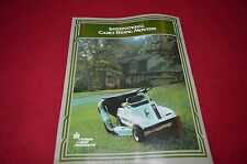 International Harvester Cub Cadet 55 85 Riding Mower Dealer's Brochure TEIN