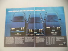 advertising Pubblicità 1986 BMW M3/325 iX/318 iS - 320 iS