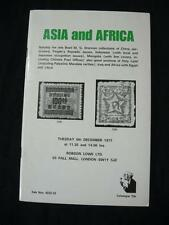 ROBSON LOWE AUCTION CATALOGUE 1977 ASIA & AFRICA WITH 'DRENNAN' CHINA MONGOLIA