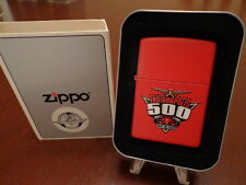 83RD INDIANAPOLIS 500 RED MATTE FINISH ZIPPO LIGHTER MINT IN BOX 1999
