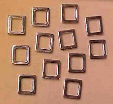 "SOLID RECTANGULAR ""Rings"" (Make 1:9 Model Horse Scale Buckles) - Silver Plated"