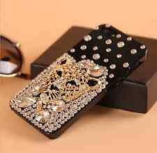 Leopard head 3D Rhinestone Crystal Case cover for Apple iphone7 PLUS 5.5' E541
