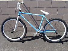 """R4 BLUE & WHITE 26"""" BMX OLD SCHOOL FREESTYLE BICYCLE W PEGS, FREE SHIPPING"""