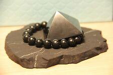 Shungite bracelet stone pyramid of schungit protection amulet chakra vibes