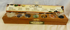 Chakra Seven Piece Stone Set in Wooden Box - Healing - New Items