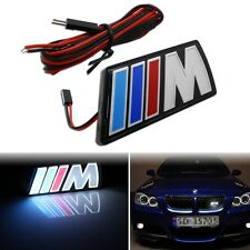 ///M Motorsport M power Universal Car Front Hood Grille Emblem LED Light for BMW