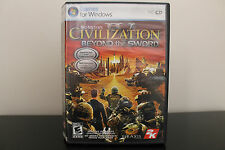 Sid Meier's Civilization IV: Beyond the Sword  (PC, 2007) *Tested/Complete
