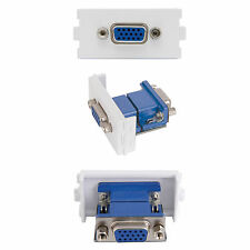 VGA FEMALE SOCKET MODULE/MODULAR WALL FACE PLATE OUTLET - SVGA PC PROJECTOR