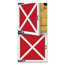 Barn Door Plastic Door Cover - 76 x 152cm - Wild West Party Decoration - Western