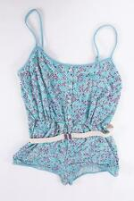 MARC JACOBS WOMENS POWDER BLUE MOSAIC JAMIE BELTED SWIMSUIT ROMPER XL NWT $173