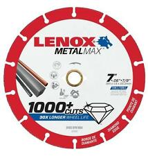 "NEW LENOX 1972924 7"" x 7/8"" METALMAX GRINDER METAL CUTTING CUT-OFF WHEEL SALE"