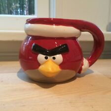 Figural Red Angry Birds Christmas Santa Hat Coffee Mug