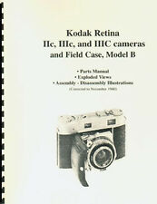 Kodak Retina IIc IIIc IIIC & Compur Shutter Parts Manual with Exploded Views