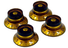Dragonfire Les Paul/ LP Bell -Tophat Knobs, Set of 4, Guitar Parts, Amber!