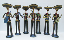 7 CATRINA SET mexican mariachi band handmade  day of the dead folk art 13""