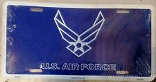 Air Force Blue WHT Wings 5986 Metal License Plate Tag United States Military US