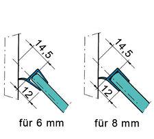 Duschdichtungen, Duschabtrennung Dichtprofil 2500mm