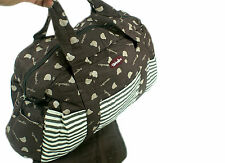 1 Baby Diaper Nappy Changing Bag Set. Various Designs and Colours - Brown Desire